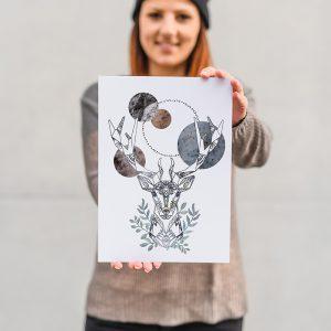 Artprint_A4_Sternenhimmel_farbgold_24