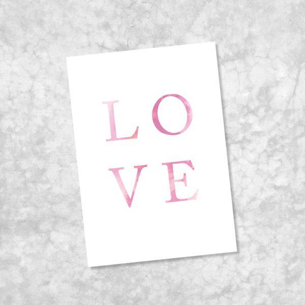 Freebie Love Valentinstag farbgold