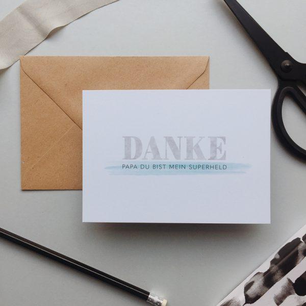 Postkarte_Vatertag_Papa_Danke