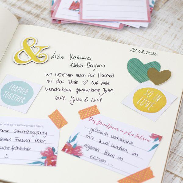 Hochzeit_Gästebuch selbst gestalten_DIY Idee Blumen