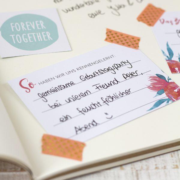 Hochzeit_Gästebuch selbst gestalten_DIY Idee Fragekarten