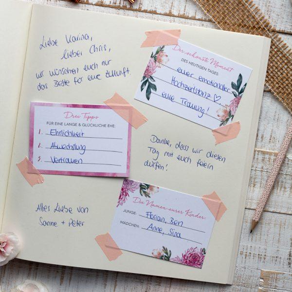 Gästebuch Hochzeit Karten DIY Idee