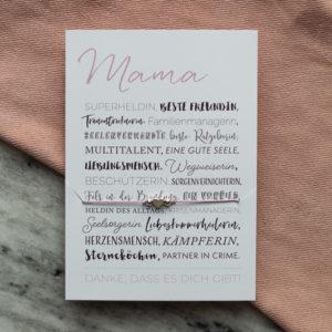 Armband Muttertag mit Postkarte