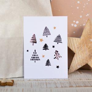 Postkarte_Weihnachten_Grußkarte_München_farbgold