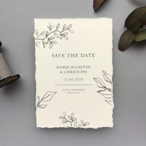 edle Save the Date Karte Pure Elegance