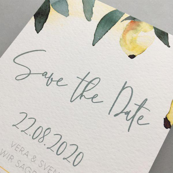 mediterrane Hochzeit Papeterie Details