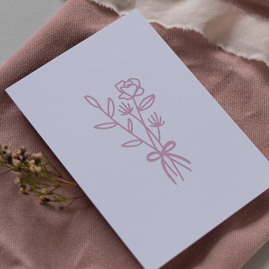 Karte Ostern mit Blumenstrauß
