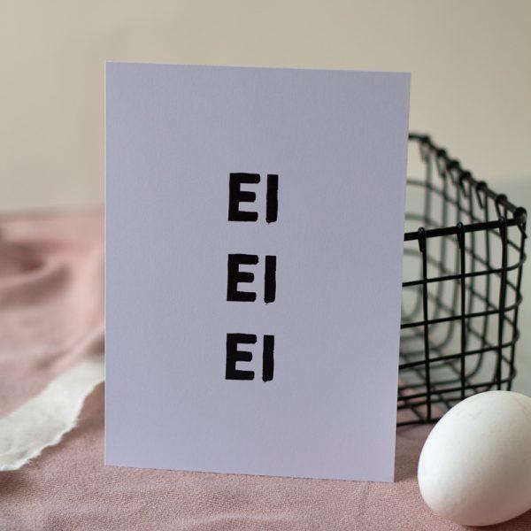 Grußkarte zu Ostern mit großen dicken Buchstaben