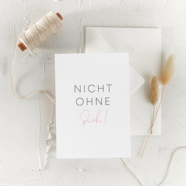 Postkarte Trauzeugin Brautjungfer Geschenk Hochzeit 7