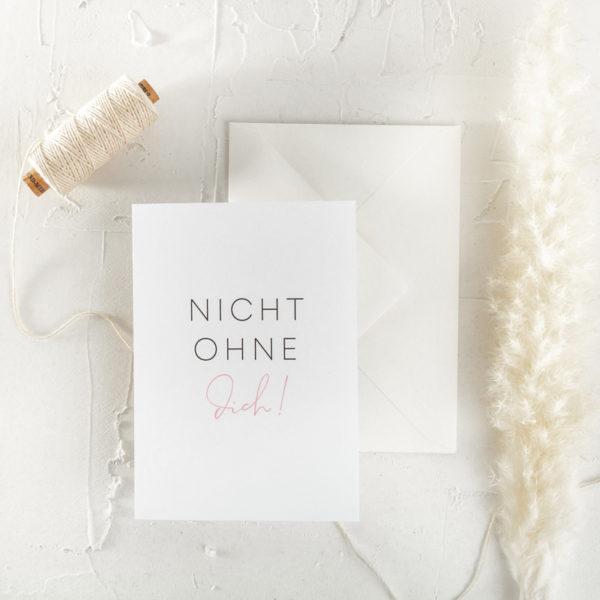 Postkarte Trauzeugin Brautjungfer Geschenk Hochzeit 9