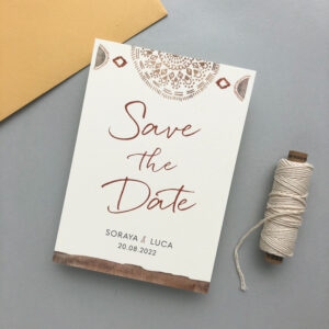 Save the Date Boho Papeterie München farbgold