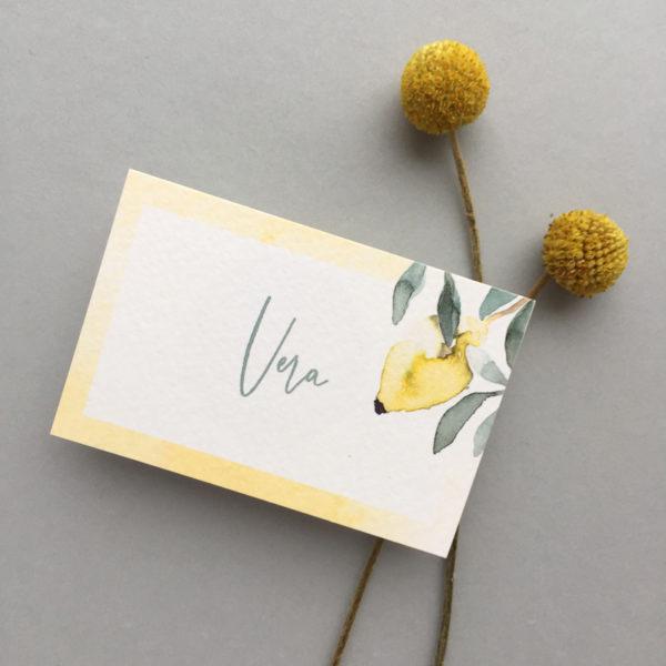 Watercolour Zitrone Hochzeit Italien Papeterie München farbgold-6