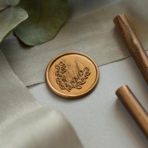 Siegel Eukalyptuszweige gold