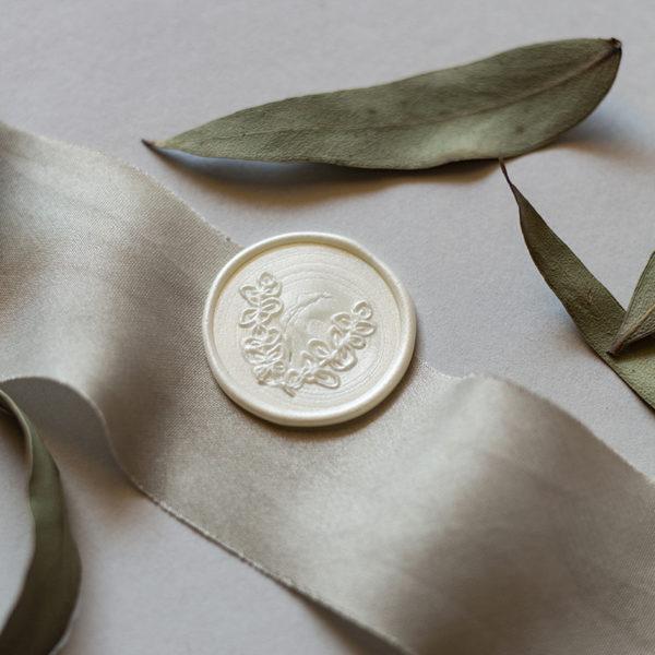 Siegel Eukalyptus Perlmutt Weiß