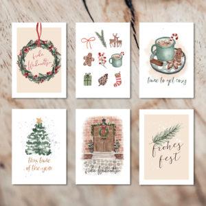 Kartenset Weihnachten