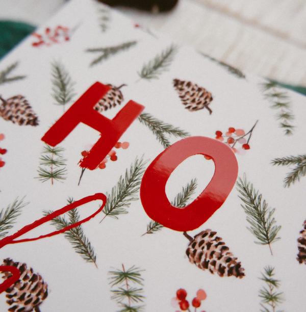 Karte Weihnachten Ho Ho Ho