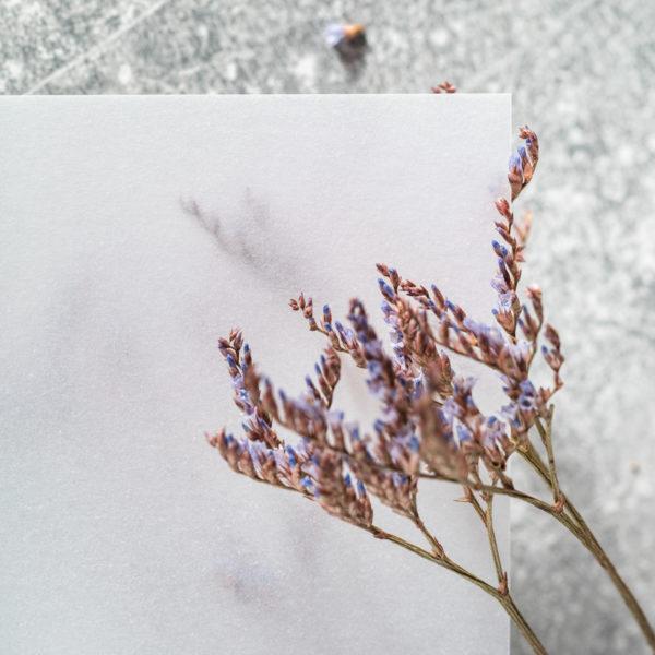 Transparentpapier mit Blumen