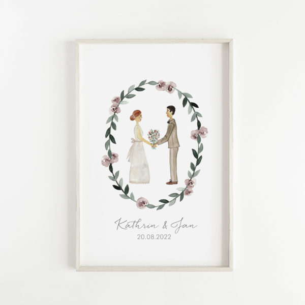 Geschenkidee Hochzeit Brautpaar Poster