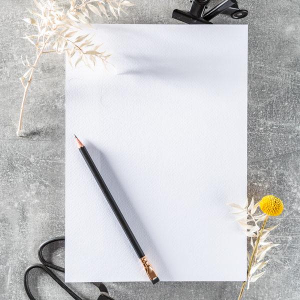 strukturiertes Papier mit Trockenblume