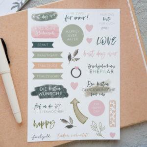 Gästebuch Kraftpapier mit Aufkleber n